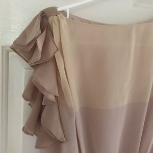 Loft ruffle shoulder dress